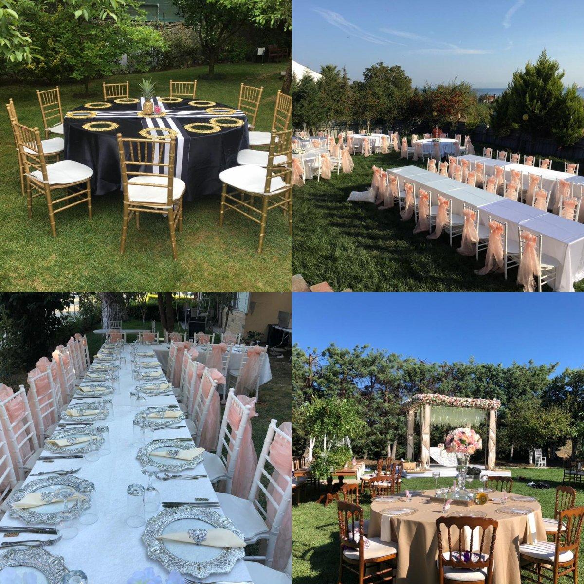Nişan için sandalye ve masa kiralama