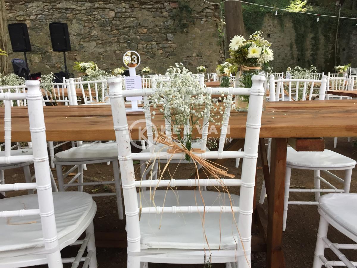 Kır Düğünü Organizasyonu Sandalye Süsleme