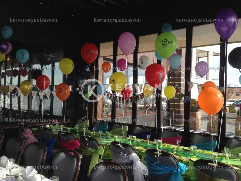 Uçan Balonlarla Doğum Günü Süsleme