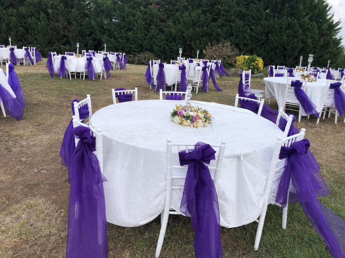 Kanlıca Orman İşletme Düğün Masa Sandalye Süsleme