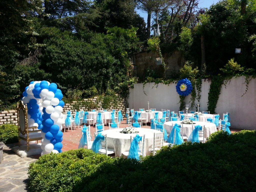 Bahçede Sünnet Düğünü Balon Süslemeleri