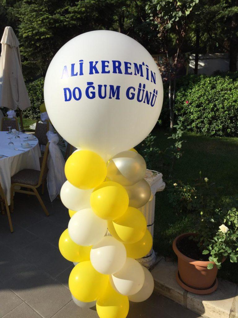 Doğum Günü Sütun Balon Süsleme