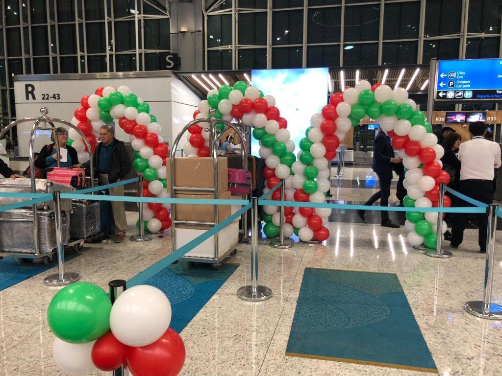 Havaalanı balon süsleme kemer balon